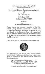 inside cover St. Philomena